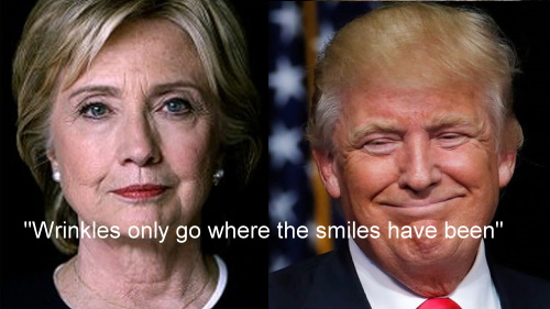 trump-and-hillary-wrinkles